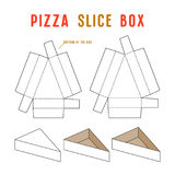 Stock vector box for pizza slice. Unwrapped and 3d image Stock Photography
