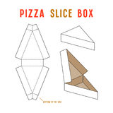 Stock vector box for pizza slice. Unwrapped and 3d image Royalty Free Stock Photos