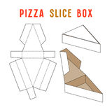 Stock vector box for pizza slice. Unwrapped and 3d image Royalty Free Stock Image