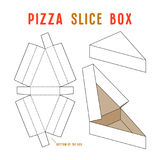 Stock vector box for pizza slice. Unwrapped and 3d image Stock Photo