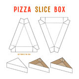 Stock vector box for pizza slice. Unwrapped and 3d image Stock Photos