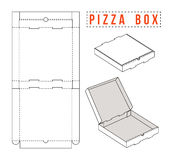 Stock vector box for pizza. Unwrapped and 3d image Stock Image