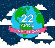 stock vector cartoon earth illustration planet smile.earth day c stock illustration
