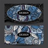 Stock vector cartoon hand draw colorful corporate identity horiz Royalty Free Stock Photo