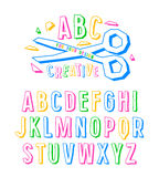 Stock vector creative alphabet Royalty Free Stock Images