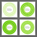 Stock Vector Design template square cards with circles.  Stock Image