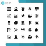 Set of 25 Modern UI Icons Symbols Signs for thank, greeting, can, users, group
