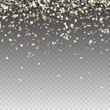 Stock vector illustration abstract random falling silver stars on black background. Glitter pattern for banner, greeting card, vector illustration
