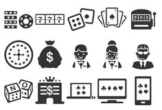Stock Vector Illustration: Casino icons royalty free illustration