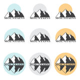 Stock Vector Illustration Mountains Set Stock Images