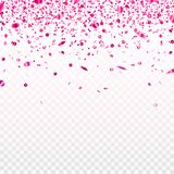 Stock vector illustration pink confetti isolated on a transparent background. EPS 10. Stock vector illustration pink confetti isolated on a transparent royalty free illustration