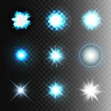 Stock vector illustration set ball lightning a transparent background. Abstract plasma sphere. Electric discharge, stars, flash,. The sun, glow, lighting Stock Photo