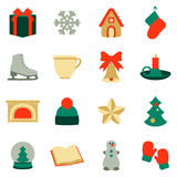 Stock vector illustration of winter and Christmas elements Royalty Free Stock Photos