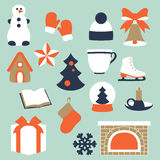 Stock vector illustration of winter and Christmas elements Stock Image