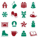 Stock vector illustration of winter and Christmas elements Stock Photos