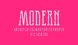 Stock vector narrow slab serif font stock photo