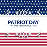 Stock vector Patriot Day USA Royalty Free Stock Photos
