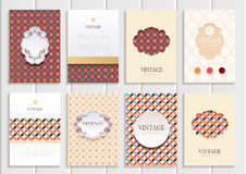 Stock vector set of brochures in vintage style Royalty Free Stock Image