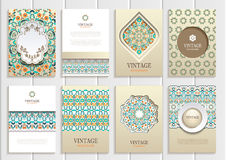 Stock vector set of brochures in vintage style Stock Photos
