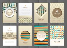 Stock vector set of brochures in vintage style Stock Images