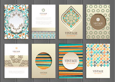 Stock vector set of brochures in vintage style Stock Photo