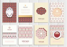Stock vector set of brochures in vintage style Royalty Free Stock Photography