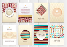 Stock vector set of brochures Royalty Free Stock Images