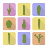 Stock vector set of cactus icons. EPS 8 Stock Photography
