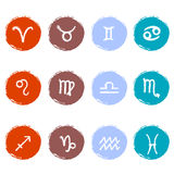 Stock vector set of colorful icons. Zodiac signs. EPS 8 Stock Photo