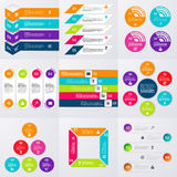 Stock Vector set of infographics Royalty Free Stock Images