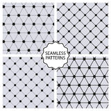 Stock Vector Set seamless line patterns Stock Photography
