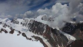 Stock Video Footage Alpine Flying Aktru Glacier stock video footage