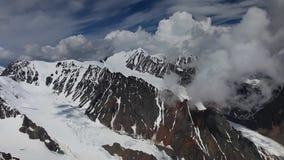 Stock Video Footage Alpine Flying BIG Glacier Aktru stock footage