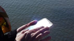 Stock Video Footage Female hands working with a smartphone stock video footage