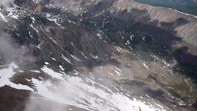 Stock Video Footage Flying in the mountains 3500 meters above sea leve Stock Image