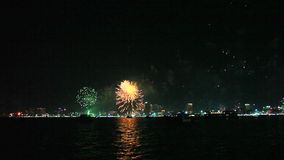Stock Video Footage salute Christmas 2015 Pattaya happy new year stock video footage
