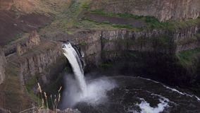 The Palouse Falls at sunset stock video