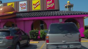 Stock video South of the Border truck stop 4k stock video footage