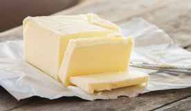 Stock von Butter, Schnitt Stockfotografie