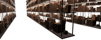 Stock and warehouse shelves Stock Photography
