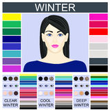Stock  winter type of female appearance Royalty Free Stock Images