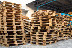 Stock wood pallet Stock Photography