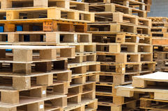 Stock wood pallet Royalty Free Stock Photo