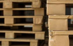 Stock wood pallet Stock Photo