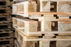 Stock wood pallets details Royalty Free Stock Photos