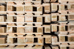 Stock wood pallets details Stock Image