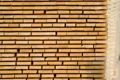 Stock of wooden board plank on factory yard Stock Image