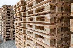 Stock wooden pallets Royalty Free Stock Image