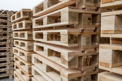 Stock wooden pallets Stock Photo