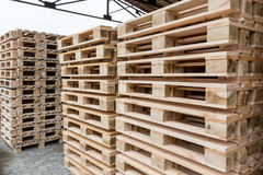 Stock wooden pallets Stock Photography